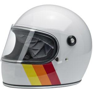 Casco Biltwell Gringo S White Tri-Stripe