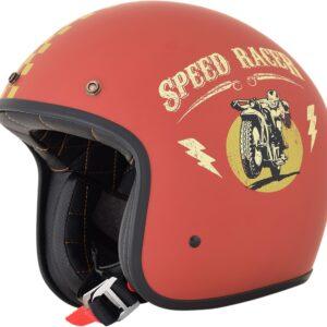 Casco AFX FX-76 Speed Racer - Flat Rust - Gold