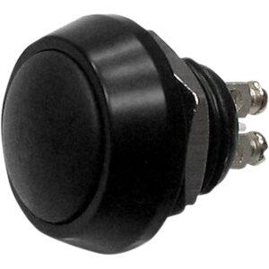 Botón Pulsador compacto M12 Negro