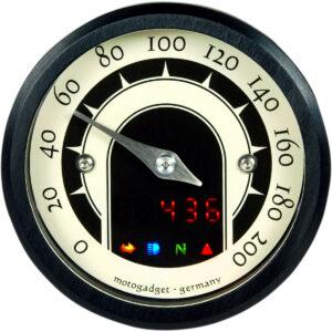 Cuentakilómetros Analógico MST 49mm Negro