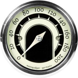 Cuentakilómetros Analógico Vintage MST 49mm Cromado