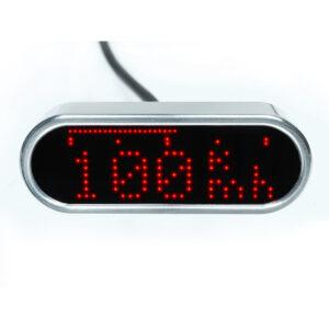 Cuentakilómetros MOTOSCOPE MINI Cromado