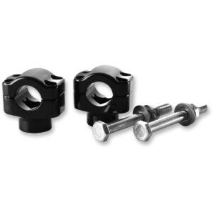 Abrazadera manillar 6061 aluminio negro brillo anodizado