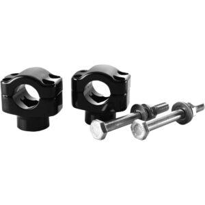 Abrazadera manillar aluminio negro brillo anodizado