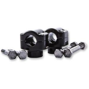 Abrazadera manillar en aluminio negro