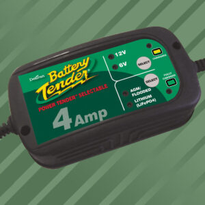 Cargador de Batería Power Tender 6V / 12V - 4A Negro
