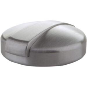 Tapa de depósito de gasolina Monza en aluminio cepillado plateado