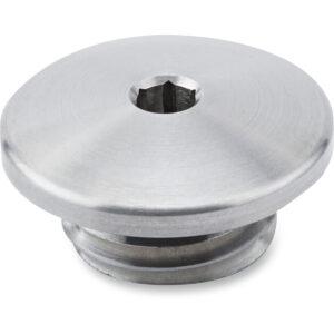 Tapón de llenado de aceite en aluminio cepillado